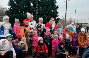 Праздничное мероприятие 7 января в сквере Маршала Кожедуба